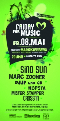FR 08.05.15 : FRIDAY FOR MUSIC @ FESTWIESE MARKKLEEBERG