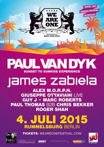 SA 04.07.15 : WE ARE ONE FESTIVAL 2015 BERLIN