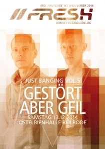 SA 13.12.14 : JUST BANGING VOL.5 @ Ostelbienhalle Beilrode
