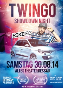 SAMSTAG 30.08.14 // Altes Theater Dessau // TWINGO SHOWDOWN NIGHT