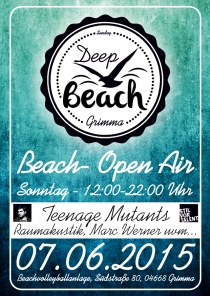 SO 07.06.15 : DEEP BEACH GRIMMA | ab 12 Uhr