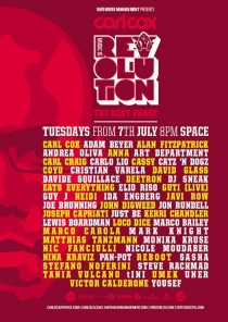 CARL COX : MUSIC IS REVOLUTION @ SPACE Ibiza // every Tuesday