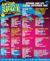 WE LOVE SPACE // JEDEN SONNTAG // SPACE IBIZA