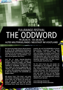 26-28.06.15 : THE ODDWORD @ FULLRANGE FESTIVAL