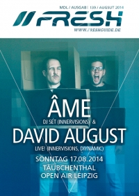 Täubchenthal Open Air mit ÂME und DAVID AUGUST live