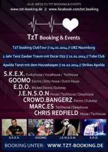 SAMSTAG 11.01.14 // TUBE CLUB MERSEBURG // 1 JAHR TZT Booking & Events