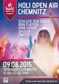 SO 09.08.15 : HOLI OPEN AIR @ SPINNEREI CHEMNITZ