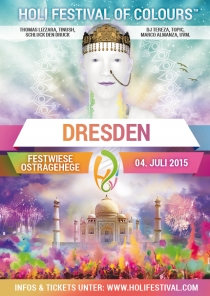 SA 04.07.15 : Holi Festival of Colours @ Festwiese Ostragehege Dresden