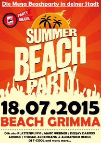 SA 18.07.15 : SUMMER BEACH PARTY in GRIMMA
