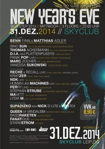 MI 31.12.14 : NEW YEARS EVE @ SKYCLUB LEIPZIG