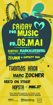 FR 06.05.16 : FRIDAY FOR MUSIC @ FESTWIESE MARKKLEEBERG
