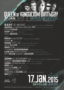 SA 17.01.15 : QUEEN OF VANDALISM B-DAY @ SKYCLUB LEIPZIG